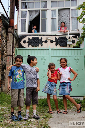 I was just sort of wandering aimlessly through some of the residential parts of Sheki when I found these folks. They seemed tickled to be photographed, both the kids and the elders up above.