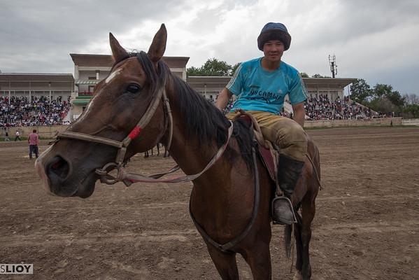 young kyrgyz horseman at ulak tyrtysh match