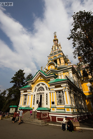 Zenkov Cathedral at the heart of Almaty's Panfilov Park.