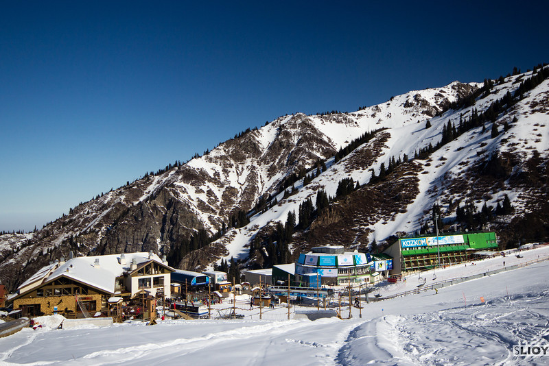 Facilities at Shymbulak Ski Resort in Almaty, Kazakhstan.