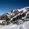 Facilities at Shymbulak Ski Resort in Almaty, Kazakhstan.