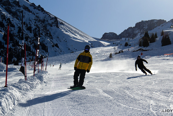 Snowsports at Shymbulak Ski Base in Almaty, Kazakhstan.