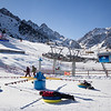 Playing in the snow at the kids' park in Shymbulak Ski Resort outside of Almaty, Kazakhstan.