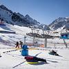 Playing in the snow at the kids' park in Shymbulak Ski Resort outside of Almaty, Kazakhstan.