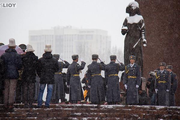 eternal flame in bishkek victory park