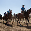 buzkashi riders entering stadium