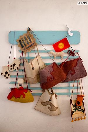 Handicrafts of Snow Leopard Enterprises.