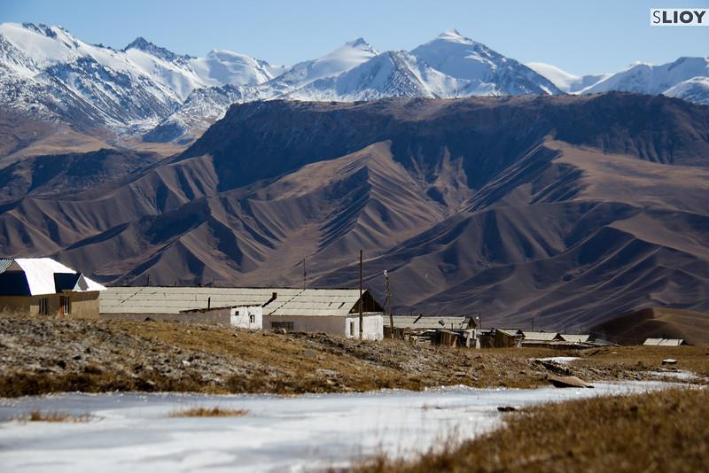 Ak-Shyrak Village in the Tian Shan Mountains.
