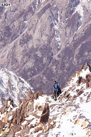 mountaineer at the pass