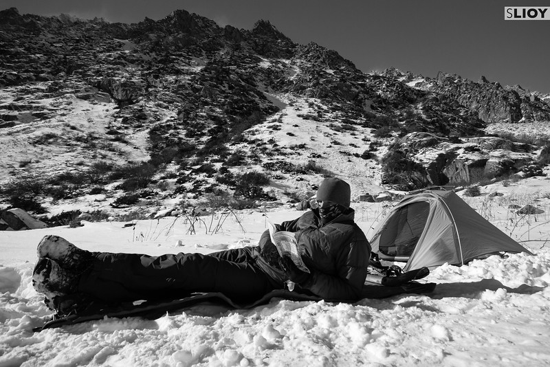 Camping in the snow in Ala-Archa.