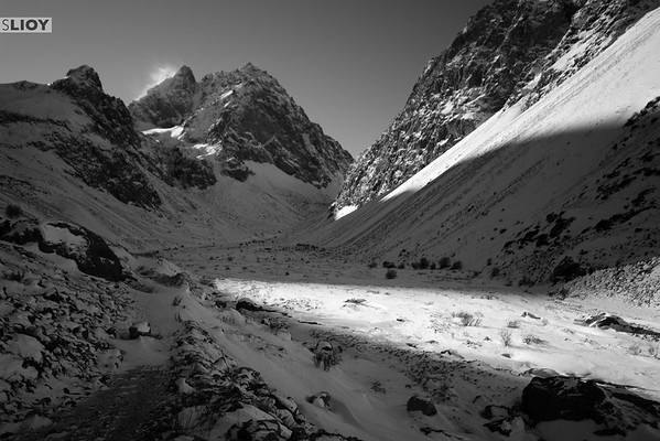 Ala-Archa Valley in Monochrome