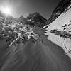 Snowy hiking in Ala-Archa