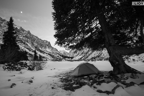 Winter camping in Kyrgyzstan's Ala-Archa National Park