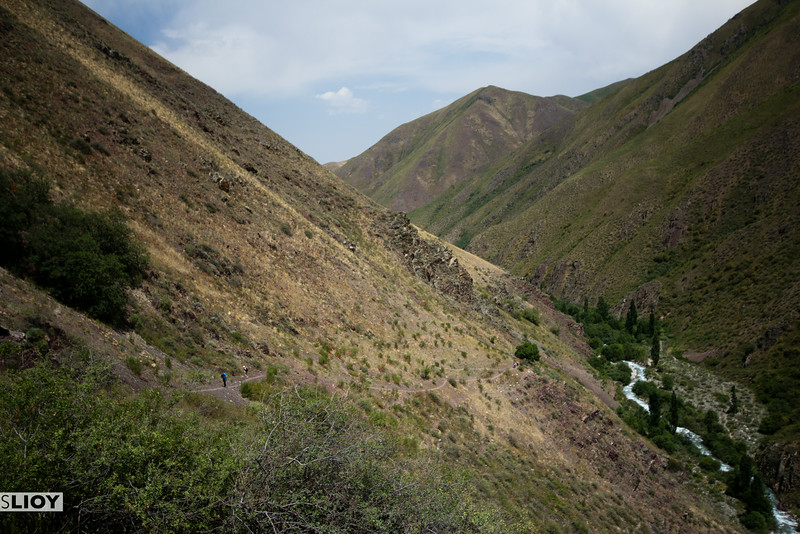 hiking in the tian shan mountains