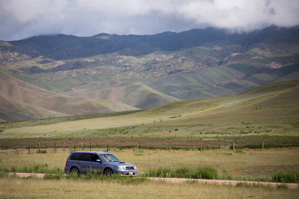 Roadtripping in Kyrgyzstan outside of Kojomkol.