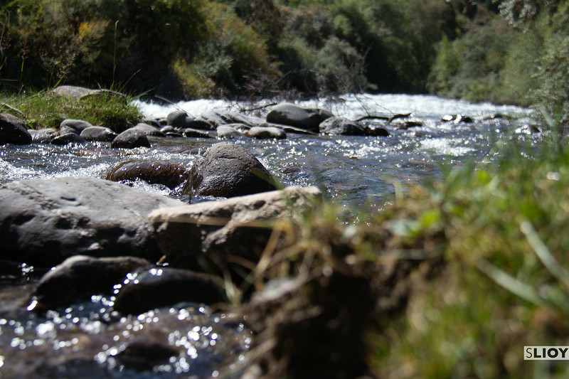 river in shamsi canyon