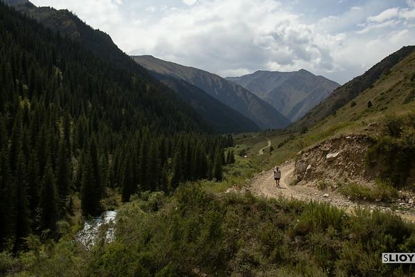 walking in shamsi gorge