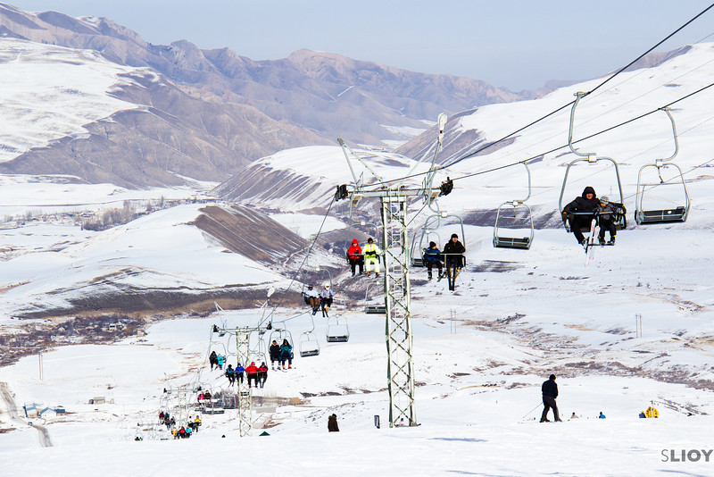 Chair lift at the ZiL Ski Base in Kyrgyzstan.