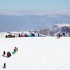 Sledding hill at ZiL Ski Base in Kyrgyzstan.