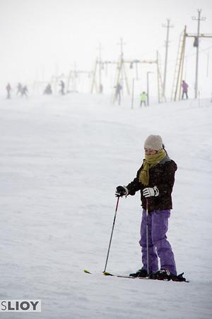 Skiing at ZiL Ski Base in Kyrgyzstan.