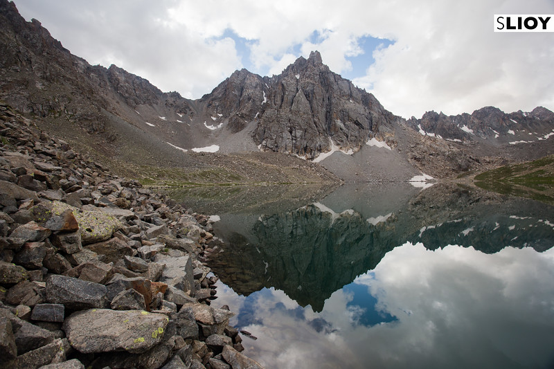 Hiking on the Boz-Uchuk Lakes trek from Jyrgalan village in Kyrgyzstan's Issyk-Kol region.
