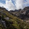 Hiking on the Boz-Uchuk Lakes trek from Jyrgalan village in Kyrgyzstan's Issyk-Kol region.