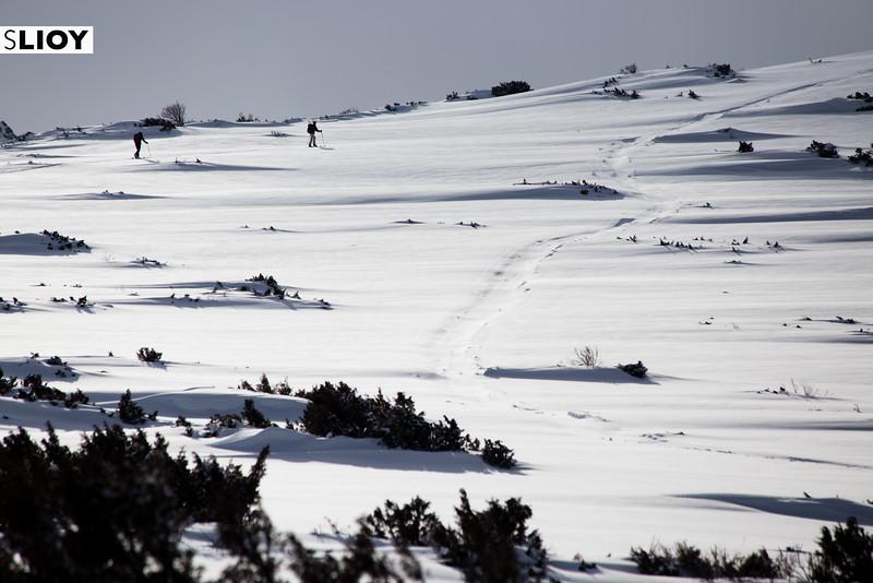 Cross-Country Skiing in the Tian Shan Mountains near Jyrgalan Village in the Issyk-Kol region of Kyrgyzstan.