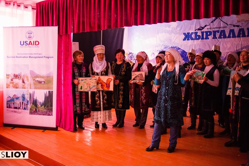 Accordian player in Jyrgalan Kyrgyzstan