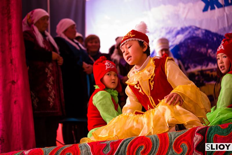 Young Kyrgyz Manaschi musician in Jyrgalan Kyrgyzstan
