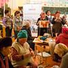 USAid-sponsored handicrafts class in Jyrgalan Village in the Issyk-Kol region of Kyrgyzstan.