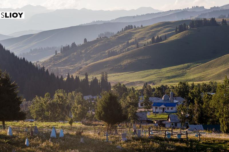 Jyrgalan Village on the east of Kyrgystan's Issyk-Kol Province
