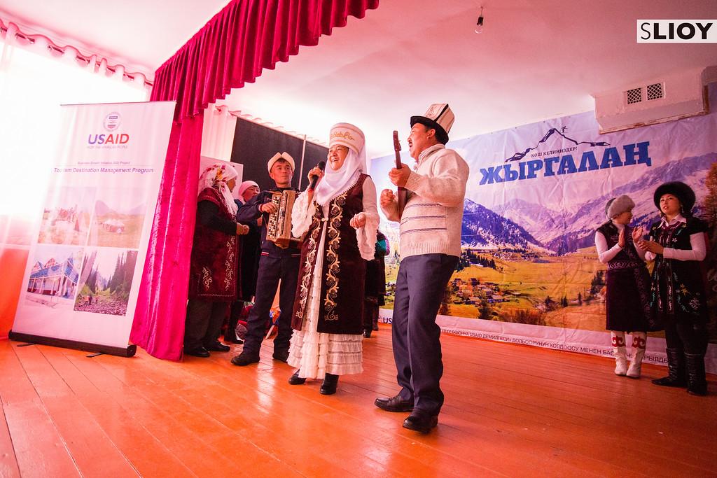 Musicians at Jyrgalan Tourism Fest in Kyrgyzstan