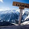 Top of Karakol Ski Base in Kyrgyzstan at the Panorama viewpoint.