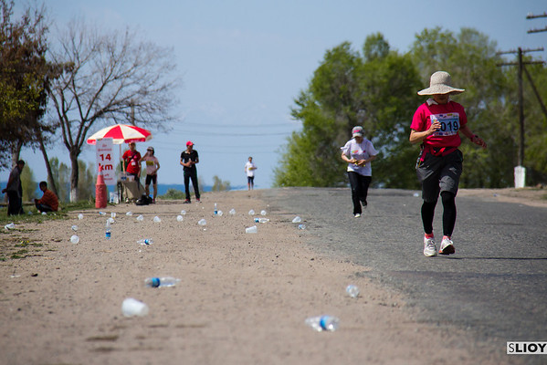water point at a marathon