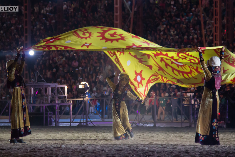 Dance performance at the opening of te World Nomad Games.