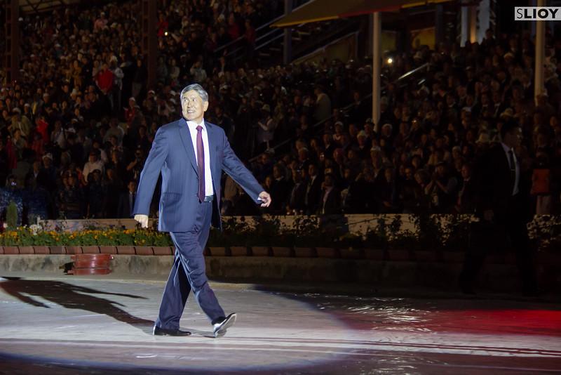 Kyrgyz President Almazbek Atambaev at the World Nomad Games