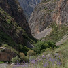 Rocky canyon off the road between Jalalabad and Kazarman in Kyrgyzstan's Jalalabad oblast..