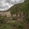 Ruins in Ak-Köl village of Kyrgyzstan's Jumgal region.