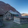 Wooden house in Ak-Köl village of Kyrgyzstan's Jumgal region.