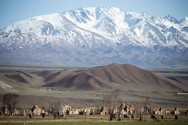 A cemetery in the Jumgal region of Kyrgyzstan.