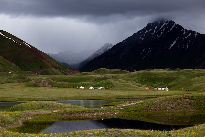 CBT Yurt Camp at Tulpar Kol lake in Kyrgyzstan's Alay Valley.
