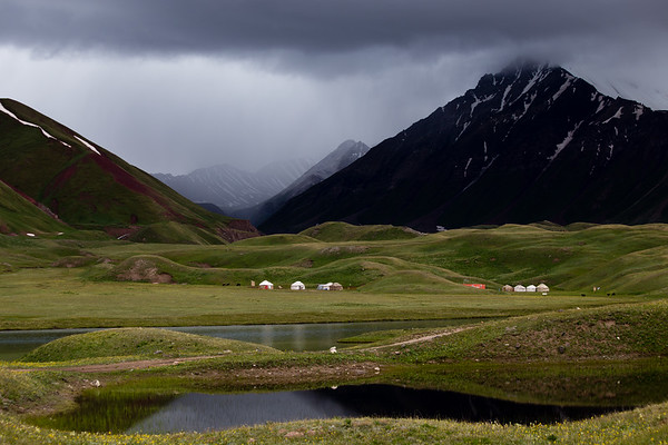 CBT Yurt Camp at Tulpar Kol lake in Kyrgyzstan's Alay Valley.