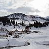 Winter Day In The Tian Shan Mountains Near Jyrgalan Village in the Issyk-Kol region of Kyrgyzstan.