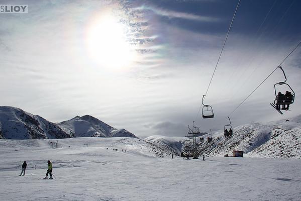 Ski day at ZiL Ski Base in Kyrgyzstan.
