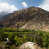 View over Snake Lake in the Fann Mountains of Tajikistan.