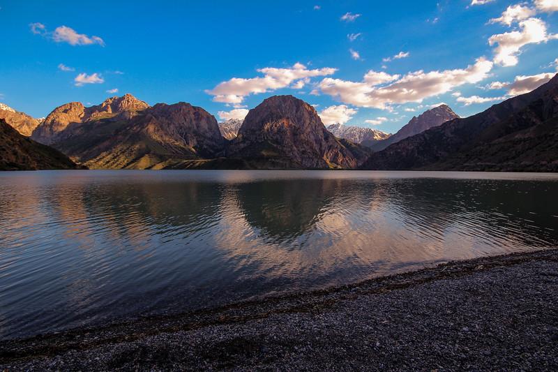 Iskendar Kol lake in the Fan Mountains