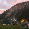 Camping at Kulikalon in the Fan Mountains