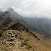 Panorama of the Kulikalon Lakes and Chukurak Valley from the Chukurak Pass in the Fann Mountains of Tajikistan.