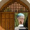 A look inside the Rudaki Mausoleum en route to the Kulaikalon Lakes in Tajikistan's Fann Mountains region.