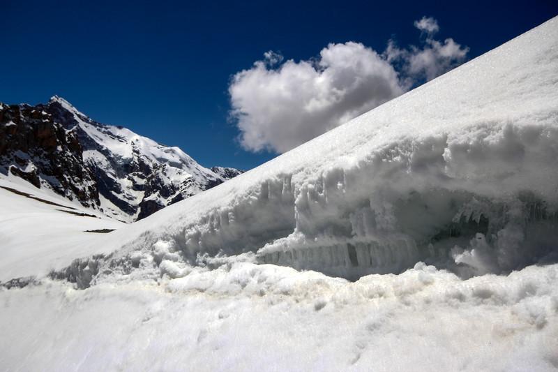 Snowy Shogun-Aga Pass in the Fan Mountains.